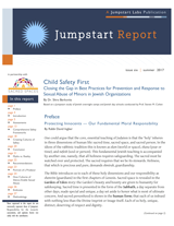 Child Safety First: Closing the Gap in Best Practices for Prevention and Response to Sexual Abuse of Minors in Jewish Organizations