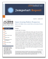Impact Investing: Rabbinic Perspectives